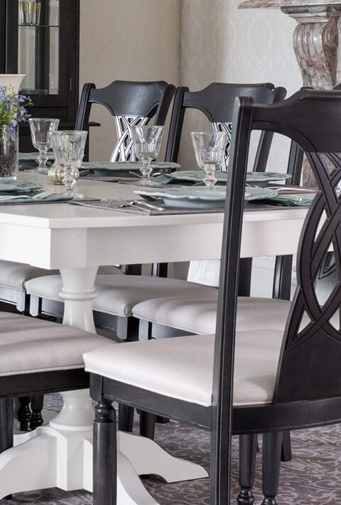 traditional dining room from Canadel at Ambrose Furniture