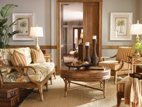 Rustic Living Room by Lexington at Ambrose Furniture